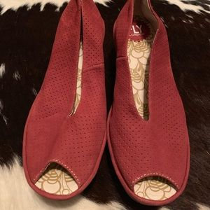 Fly London red size 38